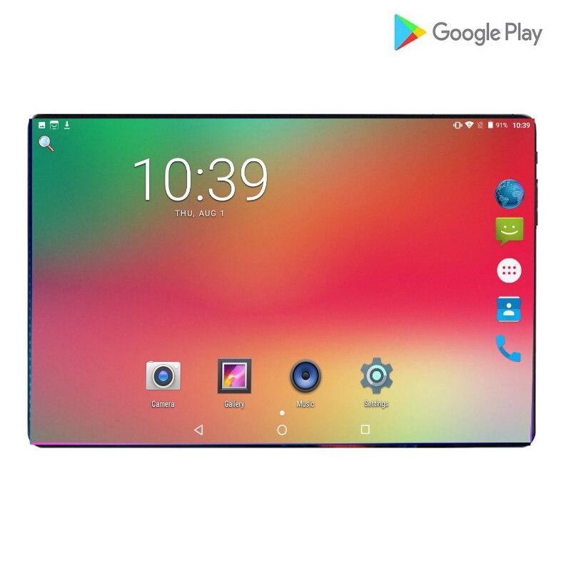 2019 Nova 2.5D Vidro Temperado 6000mAh Poder 10 polegada Octa Núcleo LTE FDD 4 Comprimidos 6GB de RAM 64GB ROM Android 9.0 Tablet 10.1 + Presentes