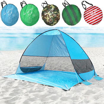 Folding Beach Tents Outdoor Camping Shelter UV Protection Automatic Opening Tent Sun Shade Awning Tourist Fish Camping Tents quick automatic opening beach tent sun shelter uv protective tent shade lightwight pop up open for outdoor camping fishing