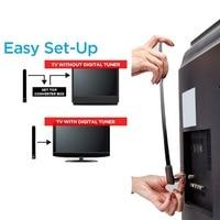אנטנה עבור אנטנה דיגיטלית נקה טלוויזיה אנטנת בית לוויין מקורה 1080p HD התשליך בכבלי HDTV חינם טלוויזיה Stick אוויר איתותי שיפור עבור (3)
