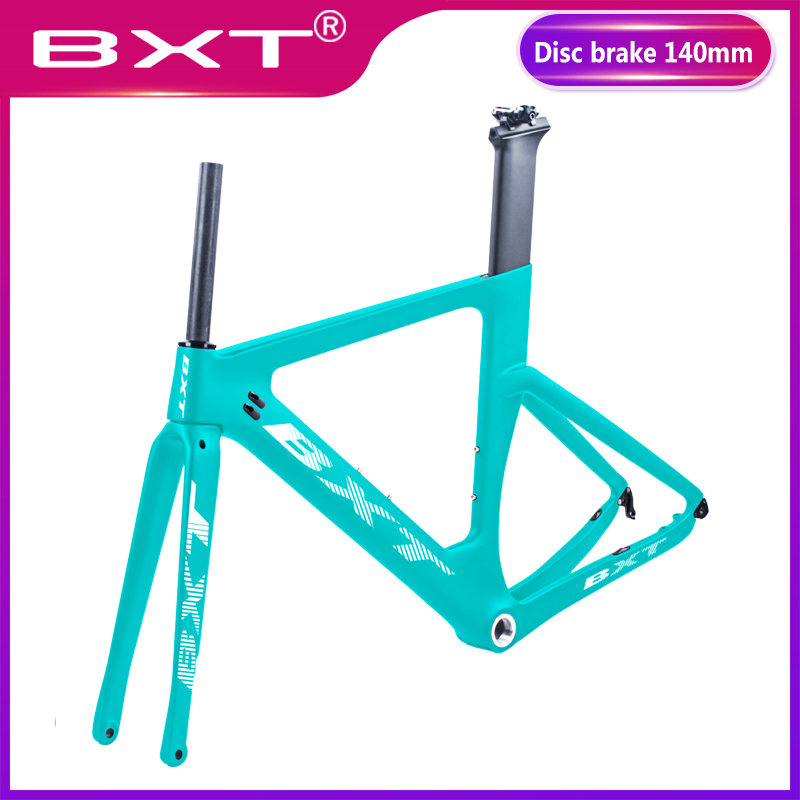 2019 New Disc Brakes Carbon Road Bike Frame Carbon Fibre Road Cycling 700C Di2 142mm*12mm Race Bicycle Frameset Factory Outlet