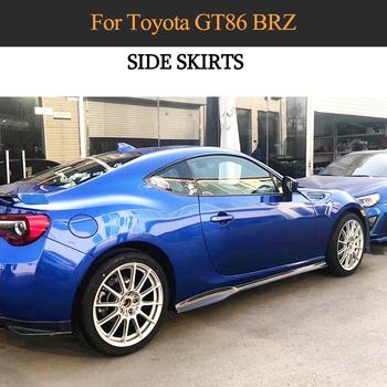 Car Side Skirts Body Kits For Subaru BRZ Toyota FT86 GT86 2013-2020 Door Bumper Side Skirts Extension Lips Aprons Carbon Fiber image