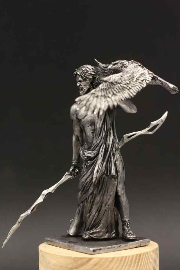 Мифологическая Статуэтка Олимпус Гора God Zeus 1/24 75 мм оловянный Металл древний солдат древние греческие подарки на день рождения домашняя коллекция