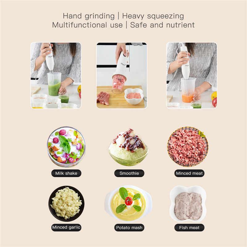 4 em 1 imersão elétrica mão vara misturador liquidificador comida para bebê juicer ovo moedor de carne portátil fácil-limpeza processador de cozinha