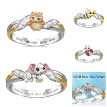 2020 new fashion trends selling European and American jewelry rings, womens animals, owls, elephants, animal rings
