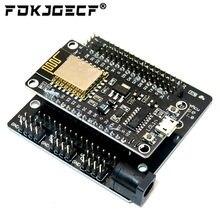 Nó mcu kit de desenvolvimento v3 ch340 nodemcu + escudo do motor wi fi esp8266 Esp-12e diy rc brinquedo controle remoto lua iot carro inteligente esp12e