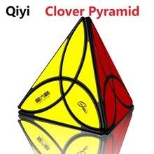 Nieuwste Qiyi Mofangge Clover Piramide Magische Kubus 3 Blad Tetraëder Cubo Magico 4 Kleuren Puzzel Speelgoed Cadeau Voor Kinderen Kinderen geschenken