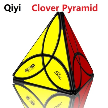Newest QiYi MoFangGe Clover Pyramid Magic Cube 3 Leaf Tetrahedron Cubo Magico 4 Colors Puzzle Toys Gift For Kids Children Gifts