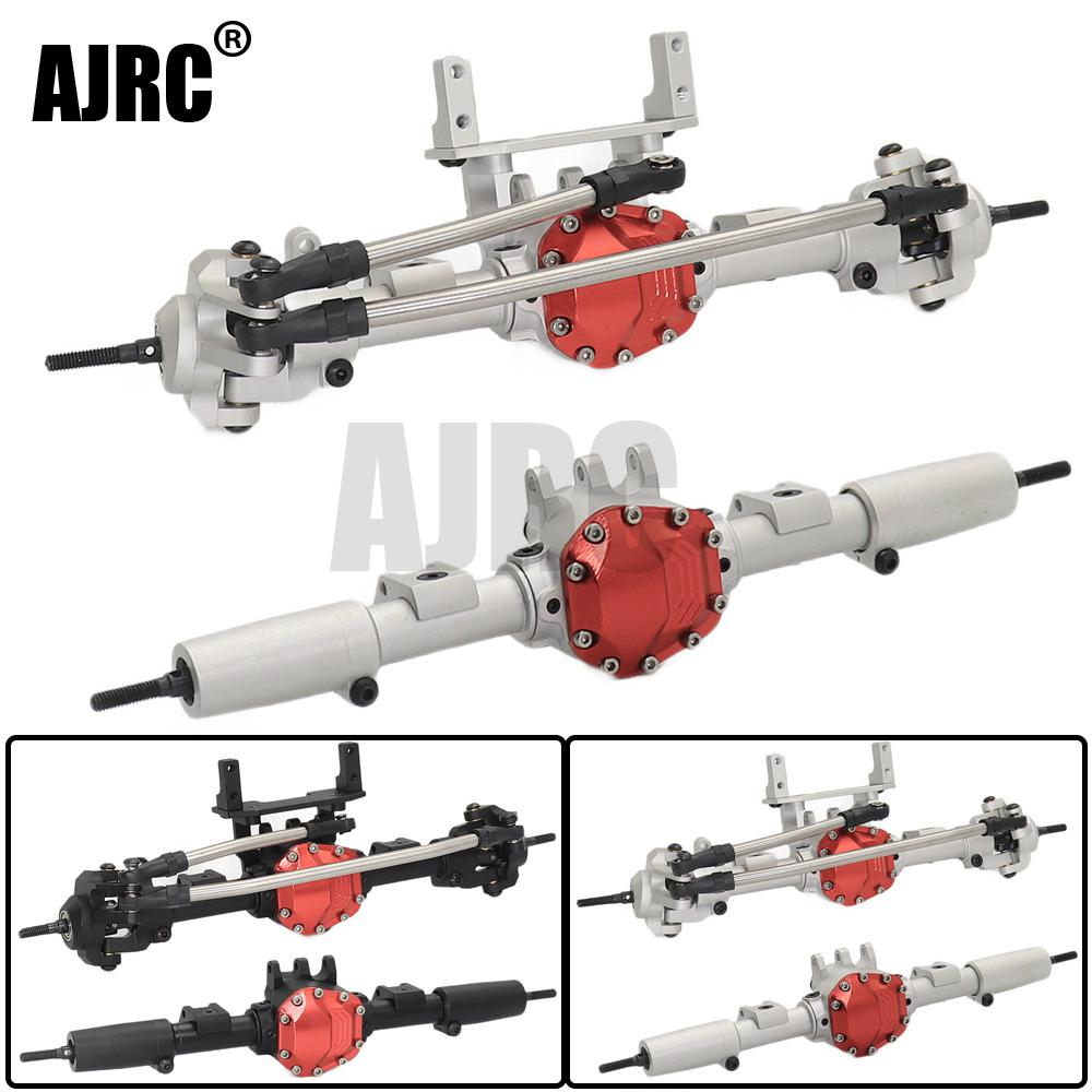 AJRC Silver / Black CNC Metal RC Car Front / Rear Axle For Axial SCX10 1:10 RC Crawler Car Upgrade Parts