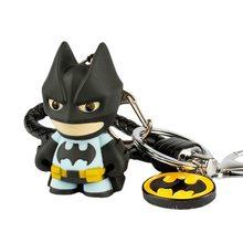Figuras de acción de DC COMIC, llaveros de juguete LED de Batman, Liga de la justicia, 3D, llaveros de juguete