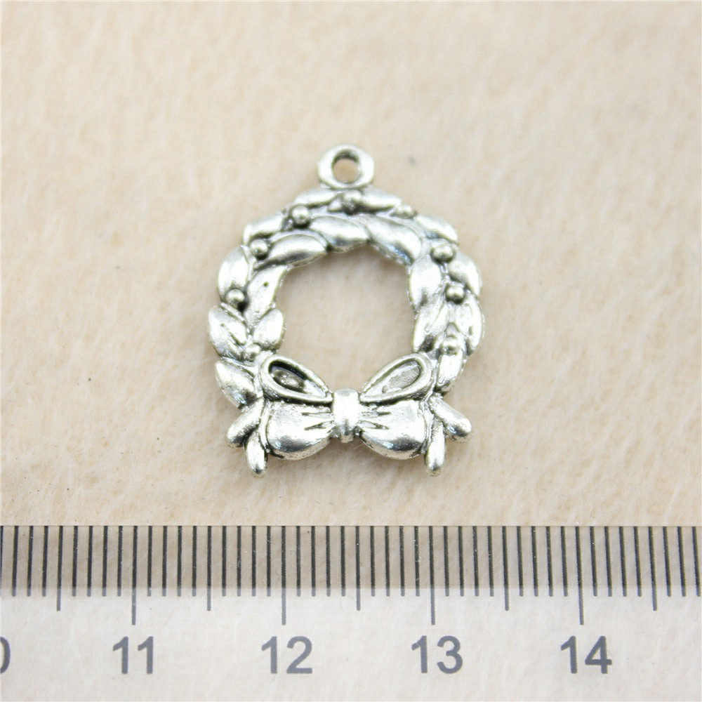 Aliexpress Retail 1 Piece 24x19mm Bow Circle Charms Pendant Charm All For Diy