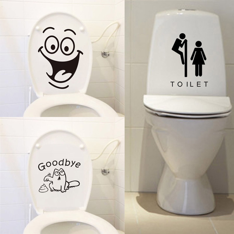 Toilet Vinyl Decal *Choose Size /& Color* Toilet Door Decal Vintage Style Toilet Decal Vinyl Lettering Window Toilet Sign Decal etc.