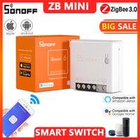 SONOFF-interruptor inteligente Zigbee 3,0, interruptor ZB MINI de dos vías, inalámbrico, Wifi, Control remoto, Automatización del hogar inteligente