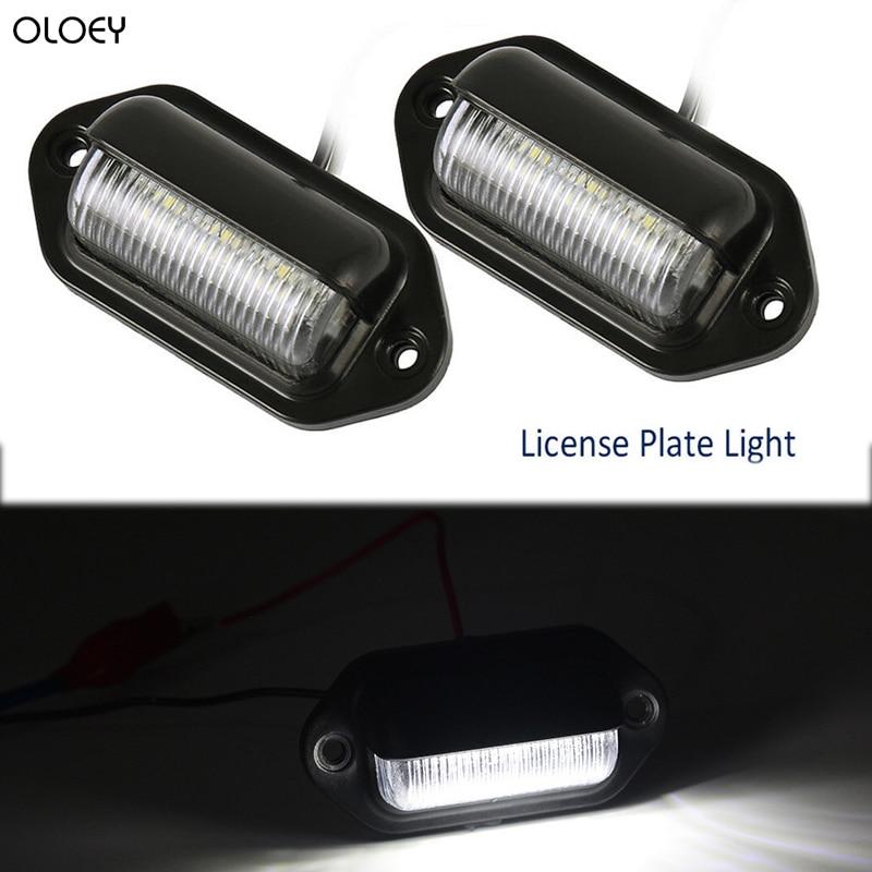 3 LED Rear License Number Plate Light Lamp Truck Trailer Boat Caravan 12V//24V