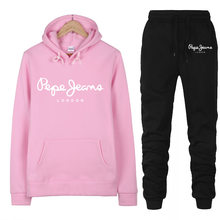 Womens Tracksuit Women Casual Sweatshirt Hoodie Sweatpants Two Pieces Outfit Sports fashion suit winter new clothing