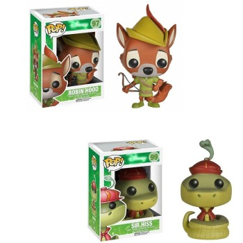 Funko POP vinyl model dolls Robin Hood Sir Hiss ROBIN HOOD PVC Action Figures Brinquedos Collection Toys for Child Gifts