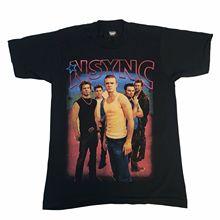 Vintage NSYNC Celebrity T-Shirt Backstreet Boys Pop Y2K Justin Timberlake 2002 Tops Tees Men 100% Cotton