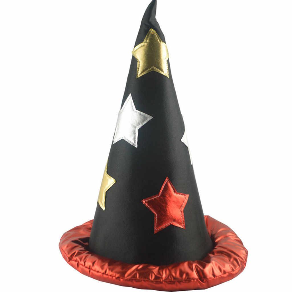 หมวกแม่มดฮาโลวีนแม่มดหมวกสำหรับงานปาร์ตี้วันฮาโลวีนคอสเพลย์ตกแต่ง Happy Holiday หมวกตลก Humen หมวก L30819