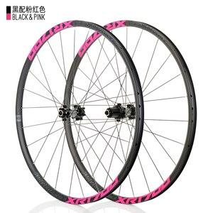 Image 3 - KOOZER XR1700 juego de ruedas para bicicleta de montaña, 26 y 27,5 pulgadas, rodamiento sellado de 6 garras, disco de bicicleta de eje pasante QR, radios DT 24H