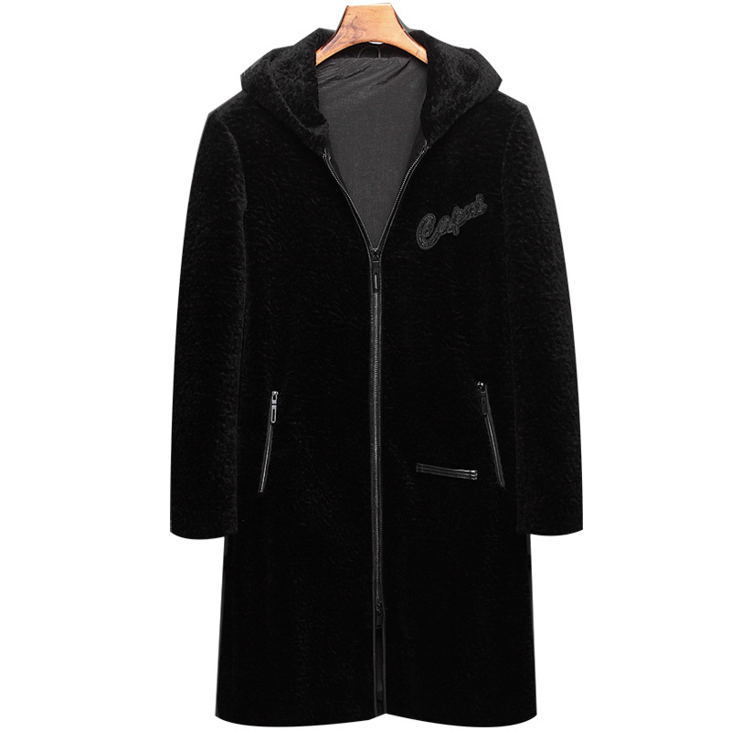 Real Fur Coat Winter Jacket Men Sheep Shearling Fur Coat Mens Jackets And Coats Autumn Long Coat Z181807 MY1227
