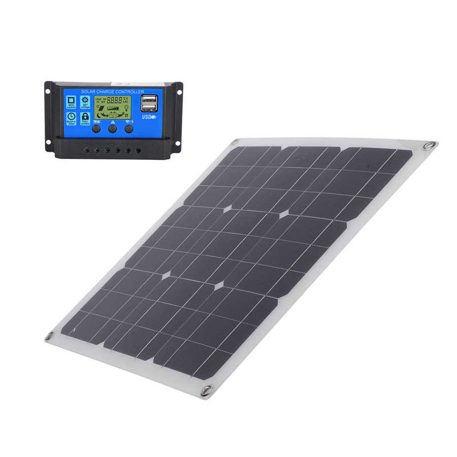 Carregador solar fotovoltaico monocristalino portátil exterior dos
