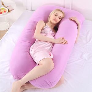 Image 1 - 妊娠枕サイドスリーパー妊婦寝具フル u 字型クッションロング睡眠多機能産科枕