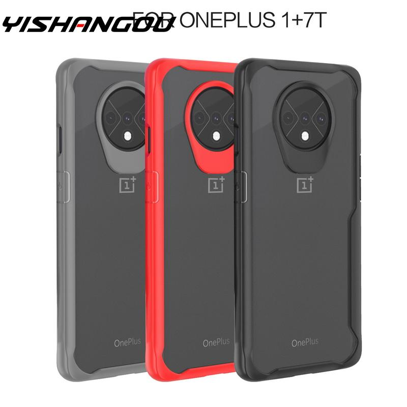 YISAHNGOU For <font><b>OnePlus</b></font> 7T 7 Pro <font><b>6T</b></font> 6 Luxury Shockproof Hybrid Soft <font><b>Bumper</b></font> Clear Hard PC <font><b>Case</b></font> Cover For One Plus 1+ 7T 7 Pro <font><b>6T</b></font> 6 image