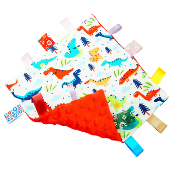 Dzianinowy super miękki kojący ręcznik groszek kolorowy etykieta noworodek kojący ręcznik niemowlęcy kojący chusteczka tanie i dobre opinie moda CN (pochodzenie) GEOMETRIC Unisex COTTON X3900