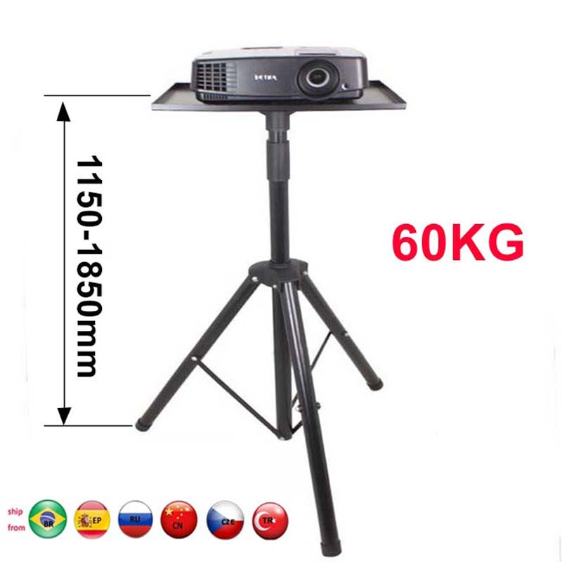 DL-PS3B 60 kg 1150-1850mm universal projetor tripé suporte portátil suporte de assoalho altura ajustável suporte dvd player suporte de assoalho
