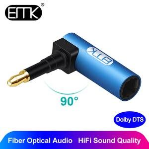 Emk 3.5 Mm Optische Audio Kabel 3.5 Mini Optische Connector Om Digitale Spdif Toslink 90 Graden Haakse Adapter Speaker sounbar