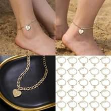 Женский браслет с сердечками и инициалами золотой цвет циркониевые