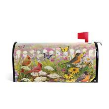 Милый чехол для почтового ящика в виде цветов и птиц, Весенняя Маргаритка, чехлы для почтового ящика с бабочками, водонепроницаемые магнитн...