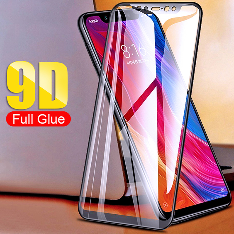 9D Coverage Tempered Glass For Redmi 4X 5A 6A 5 Plus 6 Pro 7 Full Coverage All Glue Screen Protector For Redmi  Go S2 Y2 Y3