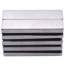 100PCS 40 X 10 4 Mm Big Strong Rectangle Block Bar Fridge Magnets Rare Earth Neodymium Magnet