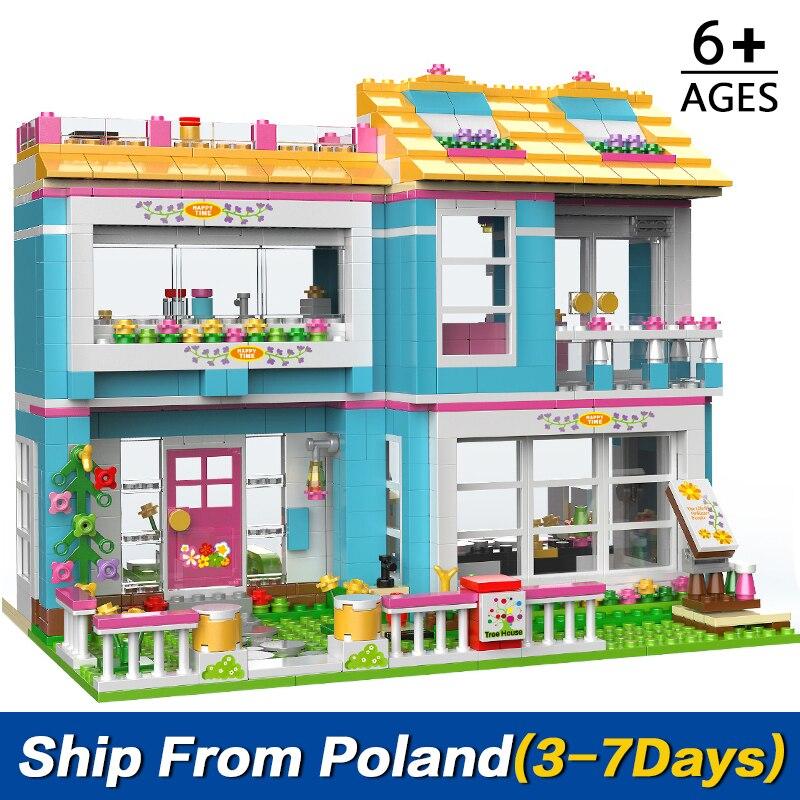 1049 шт. Совместимость Друзья серии дом семья вечерние строительные блоки игрушки для детей Монтессори образование