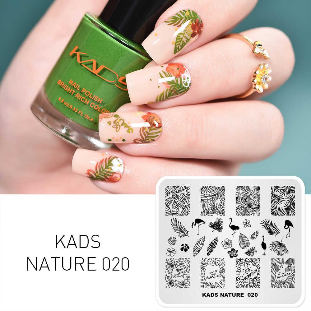 1pcs Nail Art STAMP แผ่นเล็บแม่แบบดอกไม้ธรรมชาติแฟชั่นการออกแบบ Stencil สำหรับ UV GEL DIY เล็บแผ่น