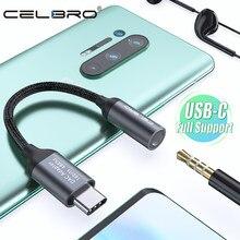 USB Tipo C para Auscultadores de 3.5mm Jack Aux Adaptador de Áudio Cabo para Xiaomi Mi 10 9 Oneplus 8 Samsung nota 20 S20 Tipo C Adaptador USB