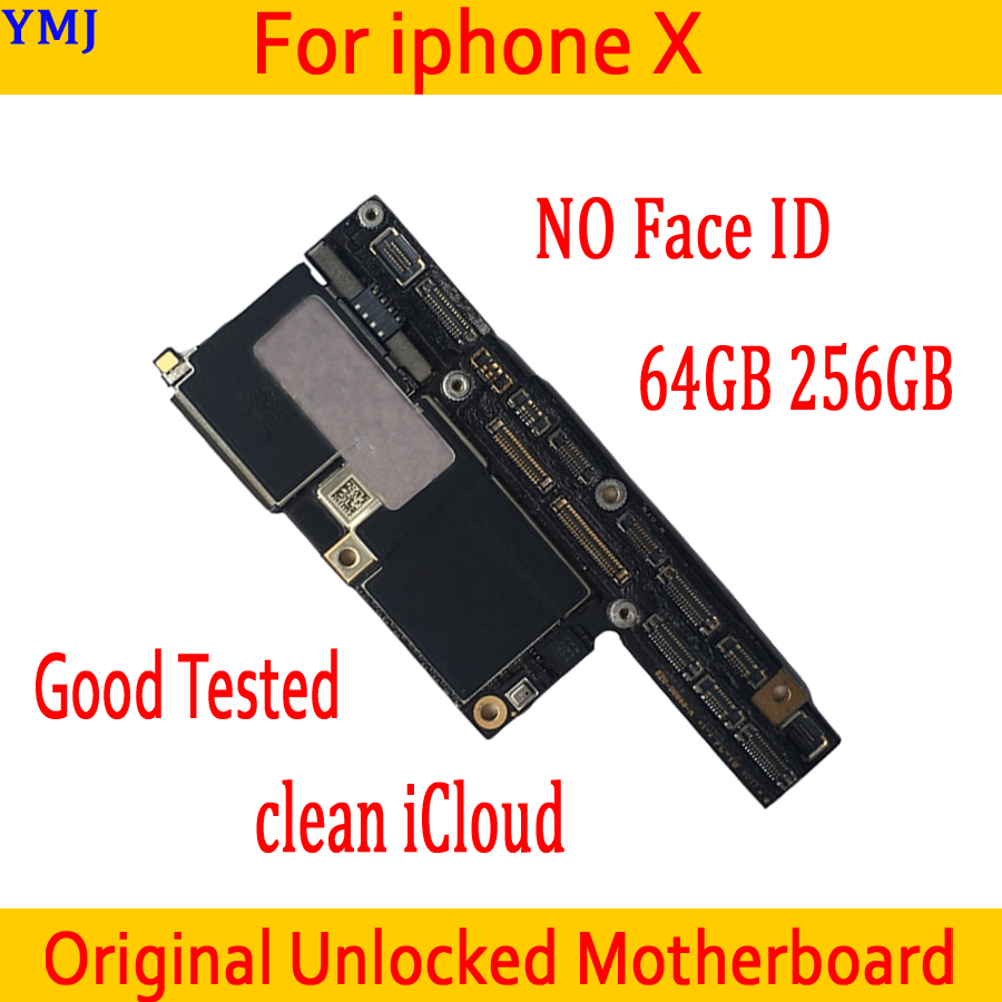 Original <font><b>unlocked</b></font> for <font><b>iphone</b></font> <font><b>X</b></font> <font><b>Motherboard</b></font> No <font><b>Face</b></font> <font><b>ID</b></font>,Clean iCloud for <font><b>iphone</b></font> <font><b>X</b></font> Mainboard <font><b>with</b></font> IOS System,Good Tested,64GB 256GB image