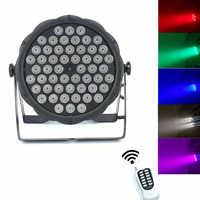 Draadloze afstandsbediening 54x3W RGBW mini LED Par Wash Licht Voor Event, disco Party DJ dmx licht disco licht