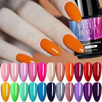 7ml Pure Mix Color Nail Gel Polish Nail Painting Lacquer Red Pink Soak Off Semi Permanent DIY Varnish Manicure Tool SA1571-4