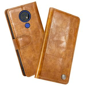 Image 2 - Funda protectora para Nokia 7,2 Funda de cuero mate con tapa a prueba de golpes para Nokia 7,2 funda con ranura para tarjeta