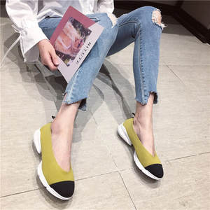 Single-Shoes Matching Color Women's New Small Casual Wild One-Foot Fragrance Leisure