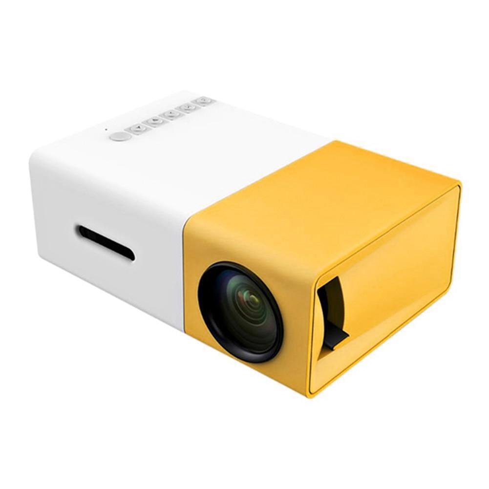 projetor mini projetor portatil teatro escritorio em casa hd 1080 p amarelo lhb99 02