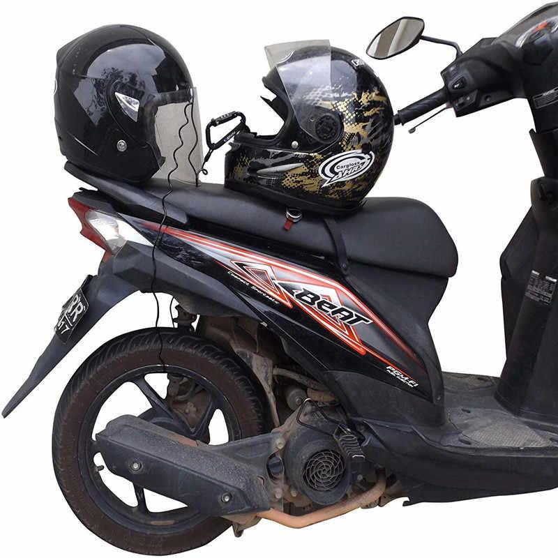 Baru Anti-Pencurian Sepeda Motor Helm Lock Kasar Kunci Sepeda 3-Digit Combinatio Kode 6 Kaki Baja Kata Sandi kunci Kabel Kunci Keamanan