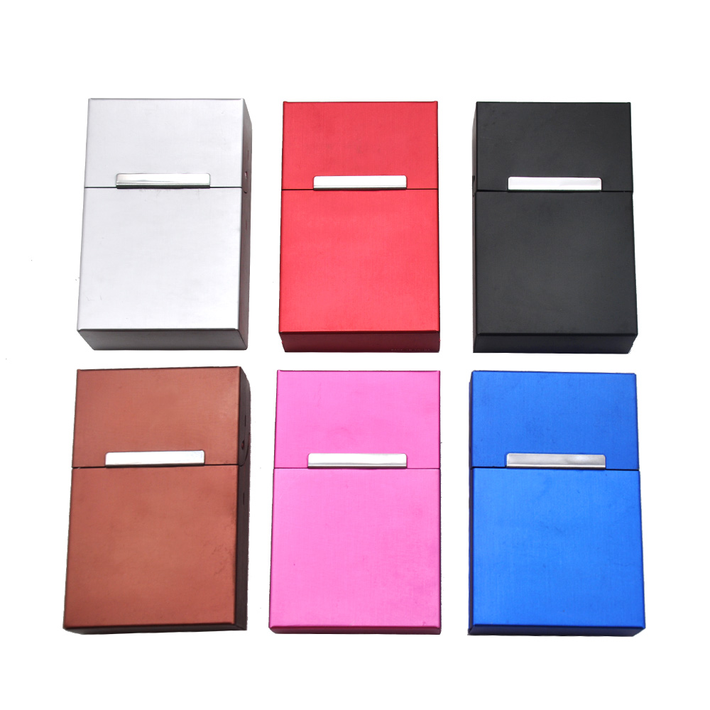 Men's Long Cigarette Case Cover 22*60*93MM For Classic Cigarettes Case Holder Hard Metal Tobacco Box Case Cover