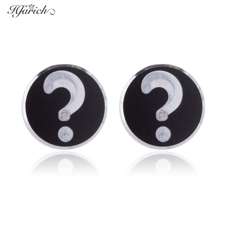 Hfarich Stainless Steel Question Mark Earrings For Women Personalized Geometric Stud Earrings Daughter Sister Friend Gift image