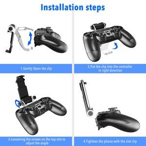 Image 5 - PS4 controller Impugnatura Del Basamento Della Clip Supporto Astuto del Telefono Mobile del basamento del Morsetto Staffa di Montaggio Gamepad Controller Supporto Del Basamento per PS4