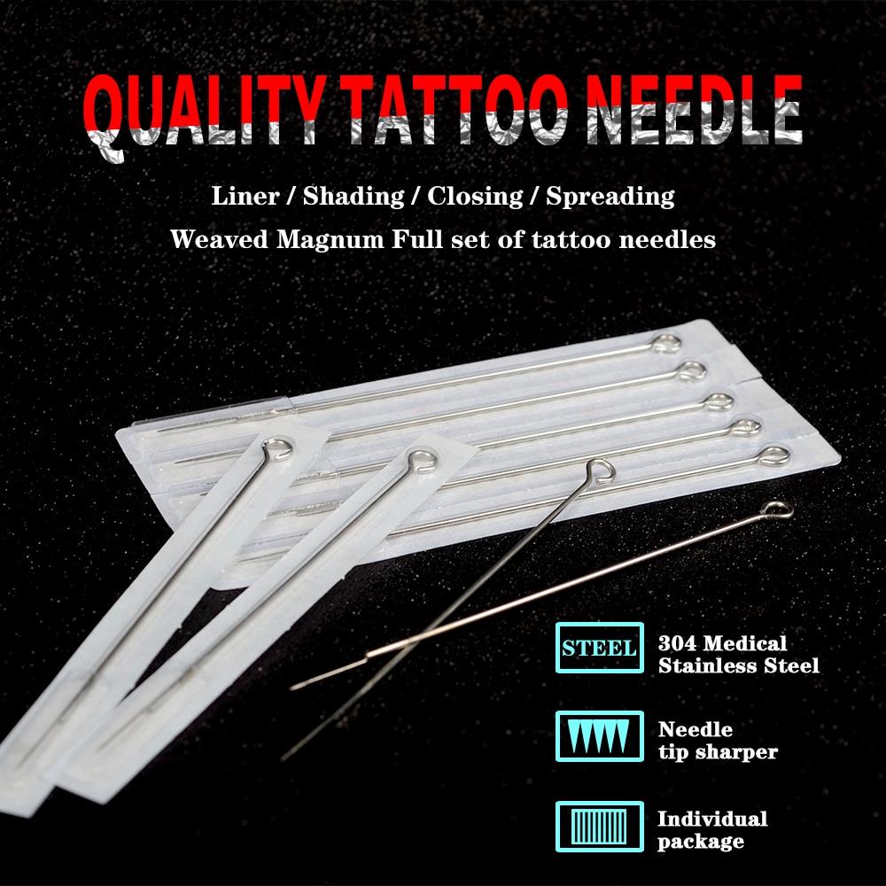 Набор для тату-машинки, набор черных блоков питания, пигментные тату-иглы, аксессуары для татуировок, наполнитель для губ, 20 шт. 6
