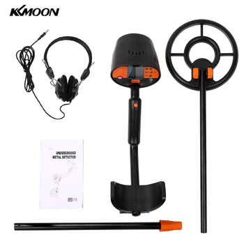 Professional Digital Metal Detector Underground Gold Silver Copper Diamond Detector Metal Search Instrument Kit with Headphone tanie i dobre opinie KKMOON Obróbka metali Zasilany baterią 160mm 6 3in 6 5KHZ LCD display sound 38 * 38mm 1 5 * 1 5in 760-1010mm 29 9-39 8in