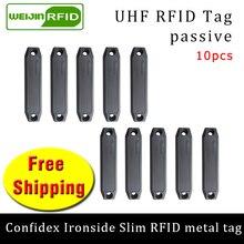 UHF Радиочастотная Идентификация анти-металл бирка confidex ironside тонкий 915 МГц 868 МГц Impinj Monza4QT 10 шт. прочные ABS пассивные RFID метки
