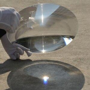 Image 3 - 300mm גדול אופטי PMMA פלסטיק גדול שמש פרנל עדשת מוקד אורך 120 220 400 360mm רכז שמש מגדלת זכוכית 1PC